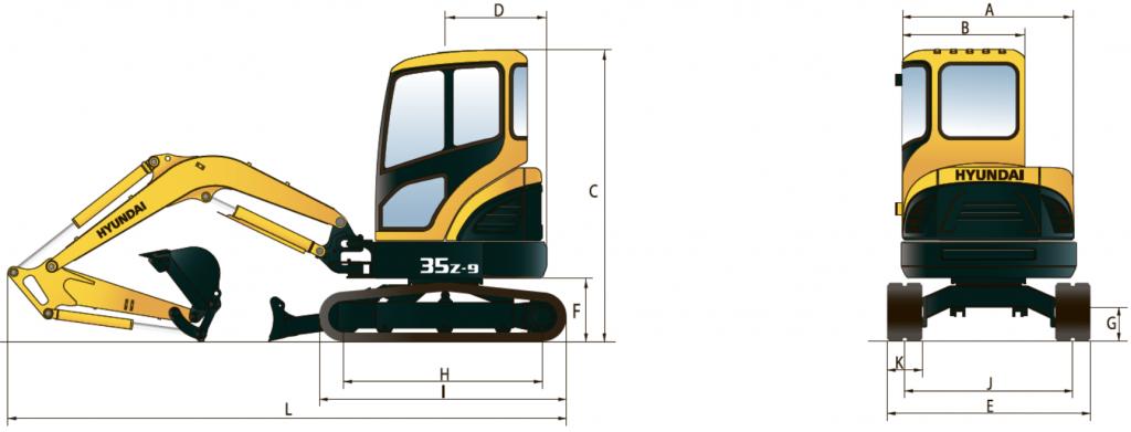Габаритные размеры R35Z-9