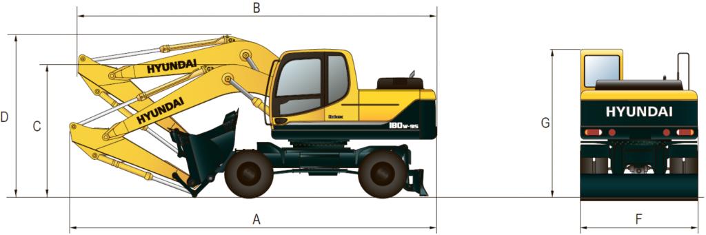 Габаритные размеры R180W-9S
