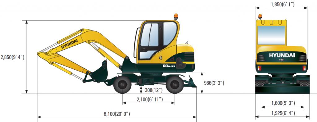 Габаритные размеры R60W-9S