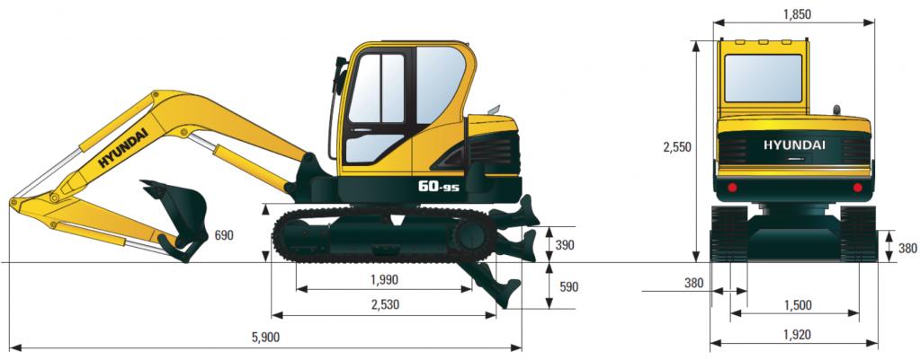 Габаритные размеры R60-9S